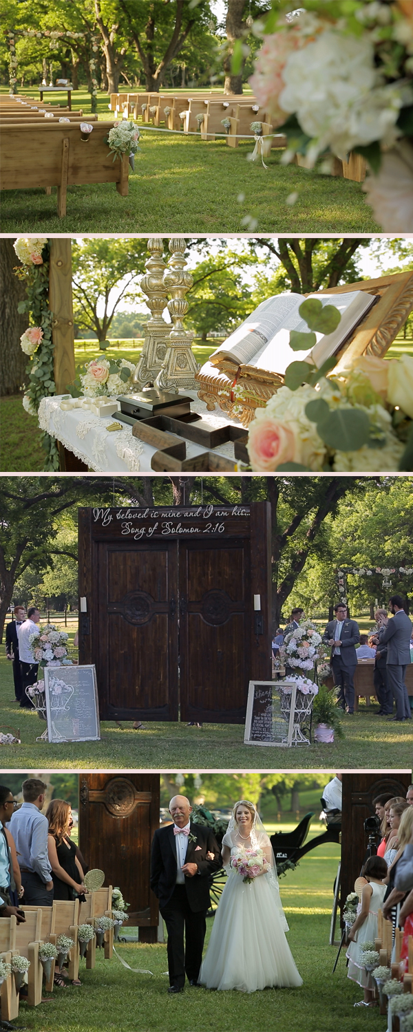 Ceremony Setting for an Elegant Outdoor Wedding in the country