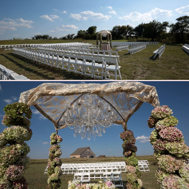 Spiral Seating for an outdoor wedding