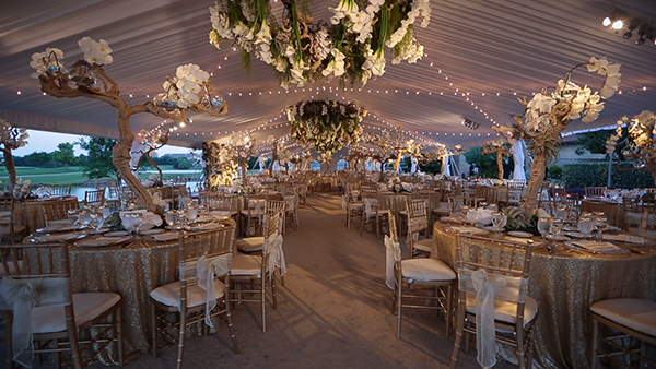 Earthy, Natural Wedding Tent Decor